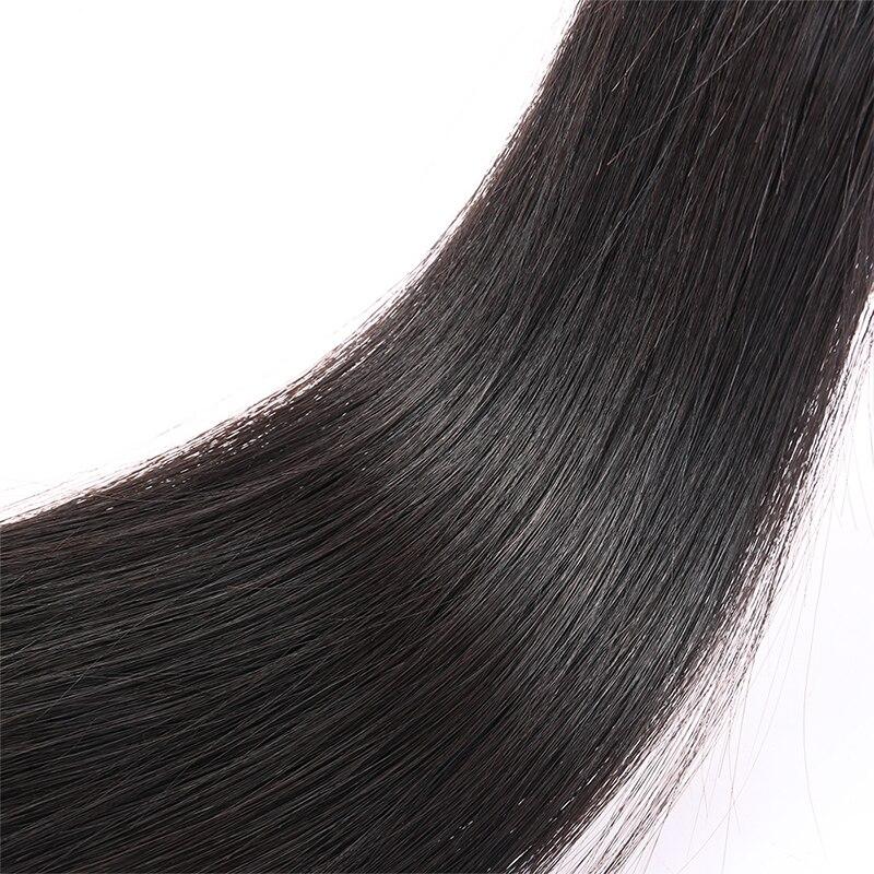 Brazilian Virgin Hair Straight 100% Human Hair Weave Bundles kan - Mänskligt hår (svart) - Foto 5