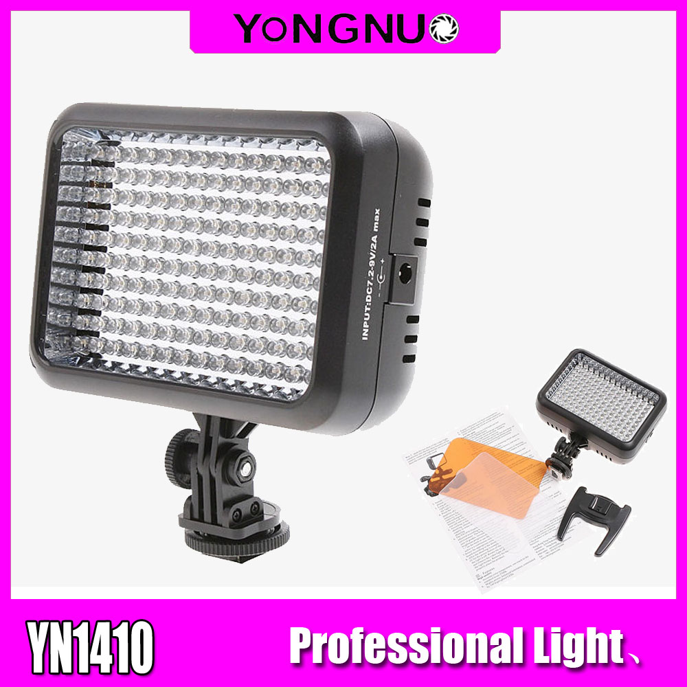 YONGNUO YN1410 LED Video Light Bicolor 140 LED Camera Lamp Lights Photographic Lighting 3200K 5500K for Photo Studio DSLR Camera