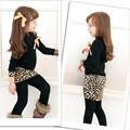 Baby Girls Long Sleeve Bow Leopard Dress Kids Cherrykeke Casual Clothes Outfits