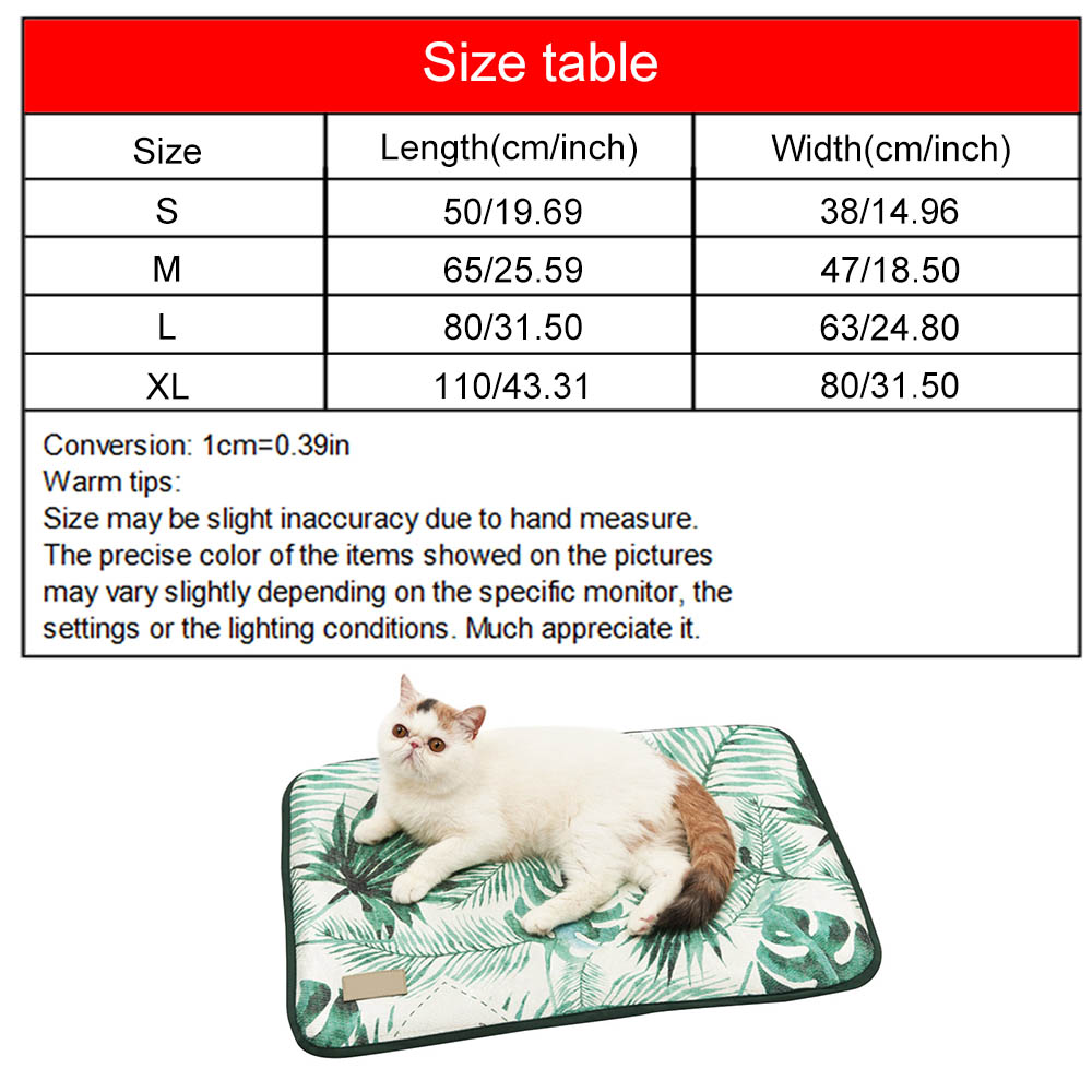 3D Print Ice Silk Pet Dog Summer Cooling Mat For Cat Dogs Floor Mats Blanket Sleeping Bed Cushion Cold Pad Pet Supplie 4 Size in Houses Kennels Pens from Home Garden
