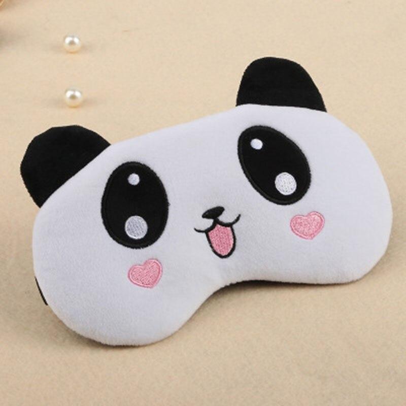 Cute Bear Panda Sleeping Eye Mask Travel Pink Kids Girls Eyepatch Soft Portable Cartoon Adjustable Aid Blindfold No Ice Bag