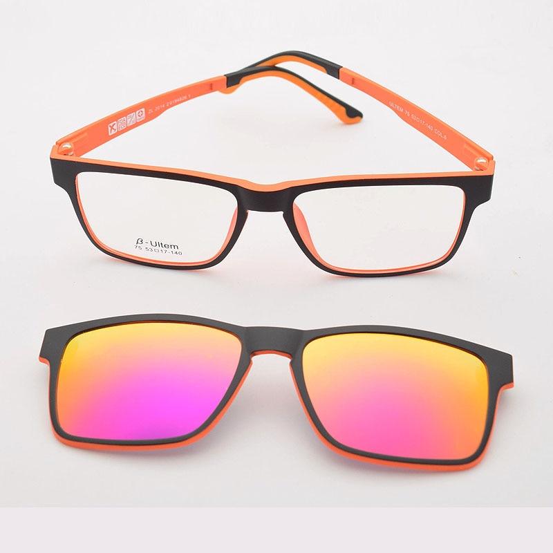 4e2f7b5001 Marco completo de doble capa gafas polarizadas imán Clip gafas de sol  miopía gafas de sol polarizadas JKK75 en De los hombres gafas de Marcos de  Accesorios ...