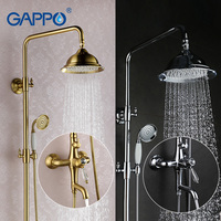 GAPPO Bathroom Shower Faucet Set Bronze Bathtub Mixer Shower Faucet Bath Shower Tap Waterfall Big Rain