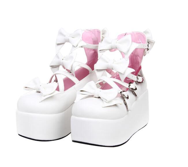 Lolita pink Mujeres Tacones 8 Black Impresión 5cm Vestido 8cm Nueva Plataformas Zapatos black Angelical 7cm 33 Cm Mujer Princesa Chica white 47 7cm Bombas Partido Señora 8cm Cosplay Mori white zwxBX7wqa