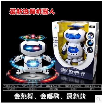Auto-sensing robot dancing childrens toys luminous children creative music robot model 360-degree rotating robot #1