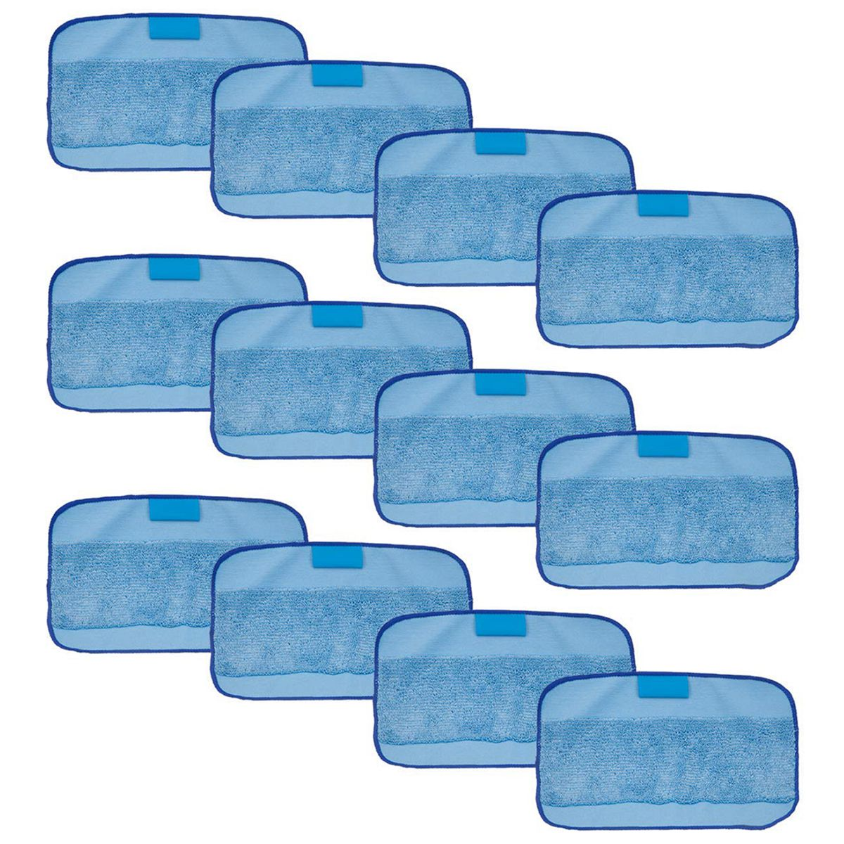 12-Packs Wet Cloths for Braava , Replacement Washable Pro Mopping Cloths for iRobot Braava 380t 320 Mint 4200 5200 microfiber 8pcs wet and 2pcs dry dweeping pro clean mopping cloths for robot irobot braava minit 4200 5200 5200c 380 380t