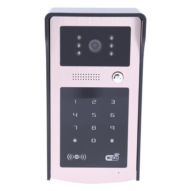 New Code Keypad IP Wireless WiFi 720P Doorbell Voice Video Intercom Phone Doorbell Gate Monitor Waterproof Door Bell Device