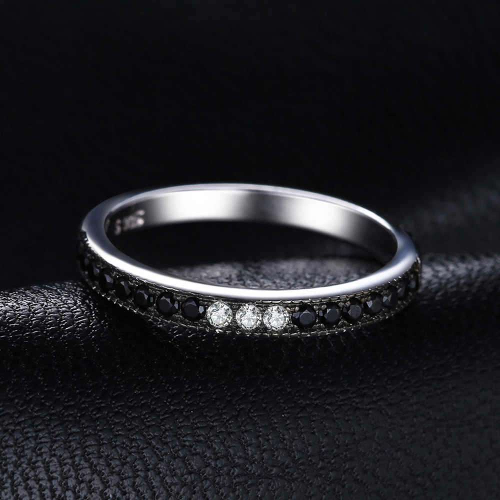 JewelryPalace ของแท้สีดำ Spinel แหวน 925 เงินสเตอร์ลิงแหวนเงินผู้หญิงแหวน Eternity Band เงิน 925 เครื่องประดับ