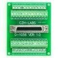 """50-pin 0.05"""" Mini D Ribbon/MDR Female Breakout Board, SCSI, Terminal Module."""