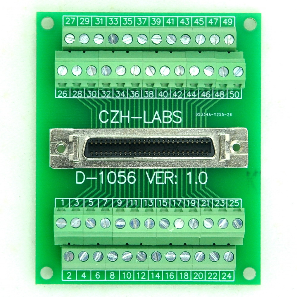 50 Pin 005 Mini D Ribbon Mdr Female Breakout Board Scsi Terminal To Usb Wiring Diagram Module In Electronics Stocks From Electronic Components Supplies On