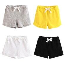 Повседневные летние детские однотонные хлопковые мягкие шорты унисекс Одежда для мальчиков и девочек модные домашние штаны для малышей Прямая поставка 0130