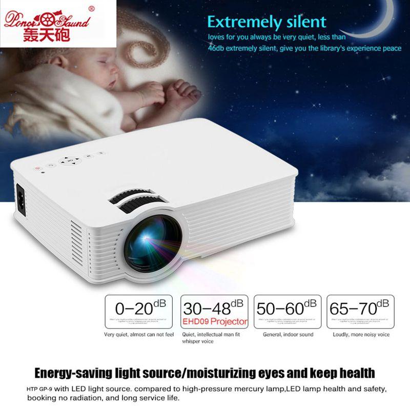GP 9 Mini Home Cinema Theater HD LCD Projector 2 USB 2000 Lumens 1920 x 1080