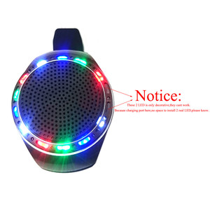 Image 2 - U6 วิ่งสีสัน LED นาฬิกาข้อมือ Bluetooth ลำโพงกีฬาสนับสนุนวิทยุ FM 8 GB 16 GB TF Card