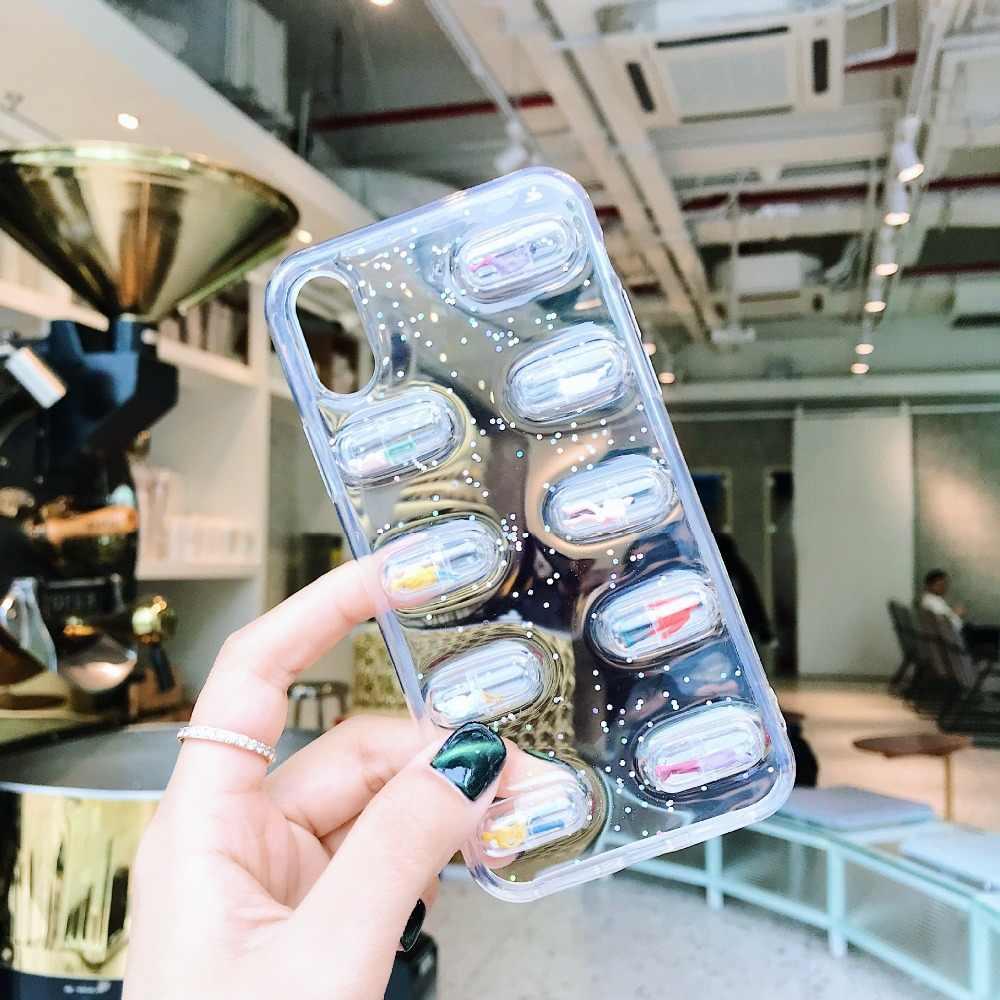 60 шт. прозрачная капсула оболочка контейнер для таблеток Medince коробочки для таблеток бутылка разветвители капсульные фигурки DIY аксессуары