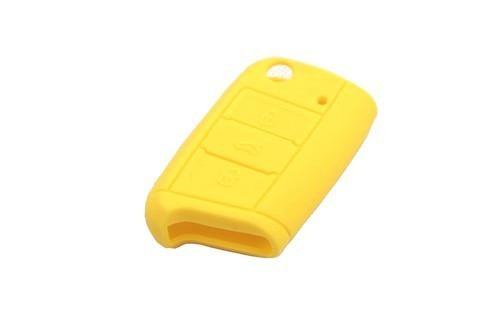 Dominante de la piel de silicona ( amarillo ) para Volkswagen para VW Golf MK7