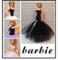 2015 New Arrival Fashion Evening Dress For Barbie Doll,wedding dress for barbie