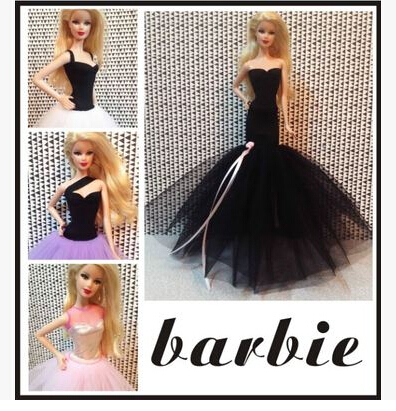 2015 New Arrival Trend Night Costume For Barbie Doll,wedding ceremony gown for barbie