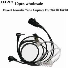 10 pçs covert tubo acústico fone de ouvido 1pin atacado para motorola cobra talkabout walkie talkie t6210 t6220 t6222