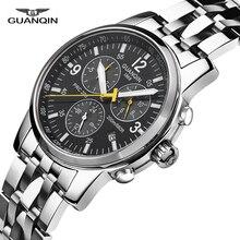 2017 Relogio masculino GUANQIN Для мужчин S Часы лучший бренд класса люкс автоматические часы мужчины Спорт Полный Сталь 200 м водонепроницаемый