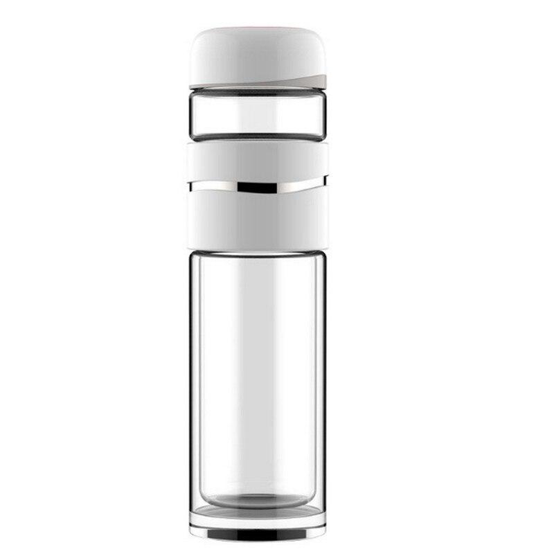 Открытый офис Стекло Чай бутылка для заварки краткое Портативный Drinkware Бутылки для воды Высокое Боросиликатное двойной стенкой Стекло 350 мл...