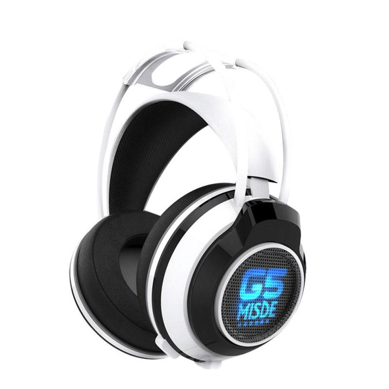 Cool Game Headset Deep Bass Computer Gaming Headphone with 3.5mm Audio Cable USB microphone LED Light Earphone For LOL PC Gamer led bass hd gaming headset mic stereo computer gamer over ear headband headphone noise cancelling with microphone for pc game