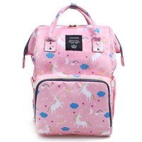 Upgrade Diaper Bags Stripes New Shoulder Top Multifunctional Backpack Maternity Large Capacity Baby Waterproof Package