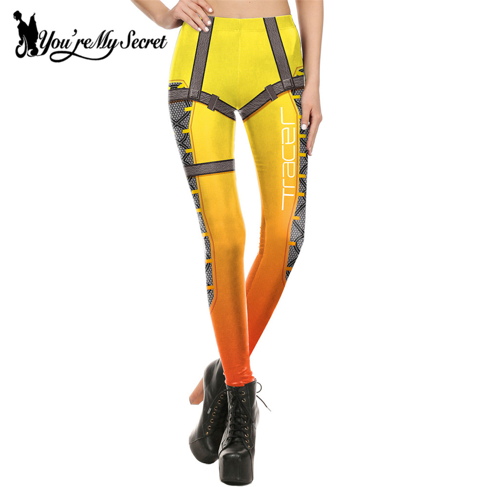 [You're My Secret] New Leggins Women Leggings Bottoms Cosplay Super HERO Tracer Winter Comic Bandage Legging Mujer Pants