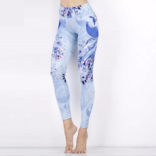 Quality Thin Women Print Yoga Leggings Wicking Gym Fitness Leggings Hip Push up Sport Pants Mid Waist Sexy Running Tight