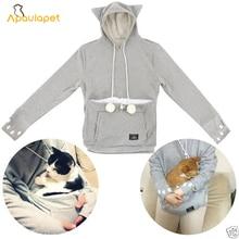 Толстовки для любителей кошек с мешочком Mewgaroo Nyangaroo, Толстовки для домашних животных, повседневные пуловеры-кенгуру с ушками, толстовка 4XL