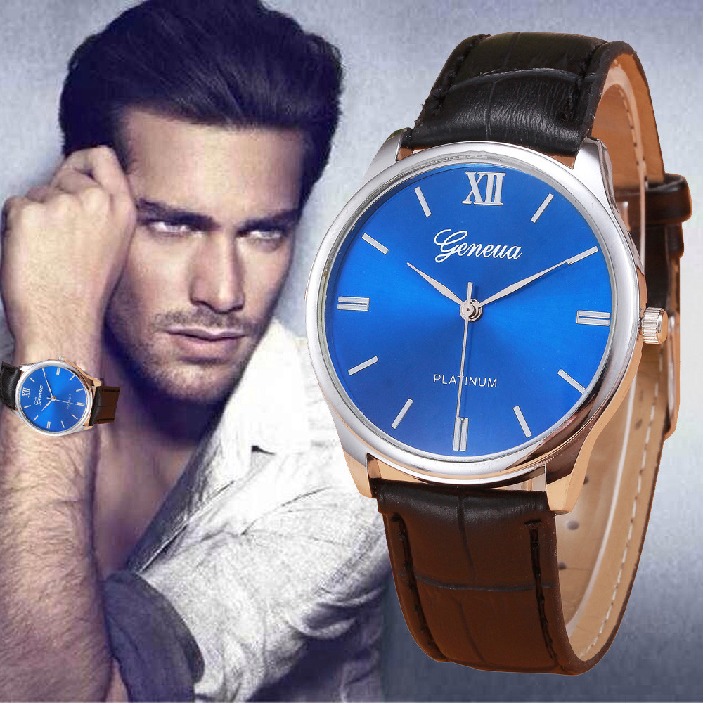 Vico 2018 Brand New Watch Luxury Fashion Mens Watch Retro Design Leather Band Analog Alloy Quartz Wrist Watch Freeshipping white ceramics band design mens leisure watch