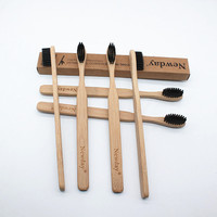 50 Pcs/Lot Bamboo Toothbrush Wood Toothbrush Bamboo Soft Bristles Natural Eco Capitellum Bamboo Fibre Bamboo Toothbrush