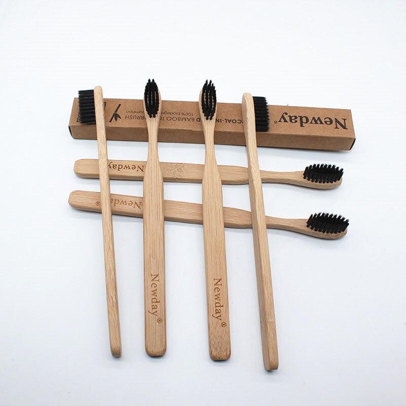 50 p s lote Bambu Eco Capitellum escova de Dentes Escova de Dentes Escova de Cerdas