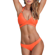 Women Push Up Bikini Bandage Criss Cross Wrap
