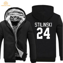 hot sale 2019 winter warm fleece Stilinski 24 men hoodies TV Show Teen Wolf Stilinski 24 men sweatshirts high quality men coat(China)