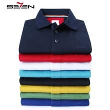 Seven7 Luxury Brand Polo Shirt Men Summer Short Sleeve High Quality Mercerized Cotton Slim Fit Male Polo Mens Tee 2018 114T50210