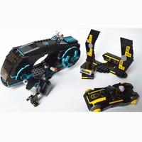KAZI 493Pcs Future Police Space Ship Racing Car War Weapon Building Blocks Action Figure Car Toys for children