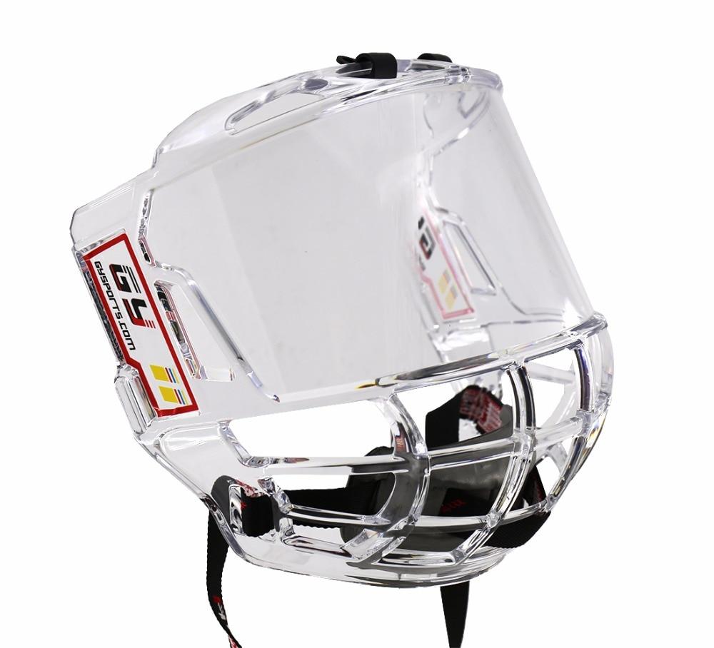GY PC018 o mais recente produto DO ESPORTE hóquei no gelo capacete gaiola máscara dupla face anti nevoeiro anti risco Frete grátis