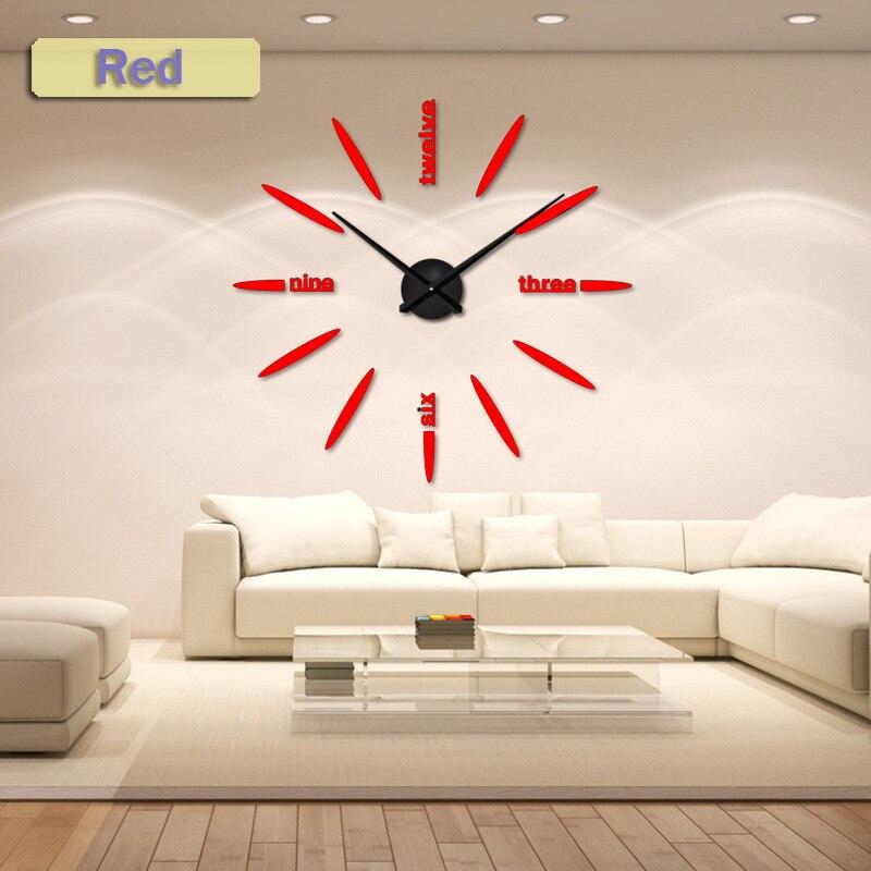 130 cm Usine 2019 Horloge Murale Acrylique + EVR + Miroir En Métal - Décor à la maison - Photo 4
