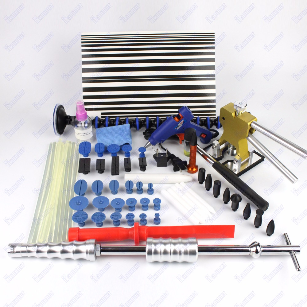 Car Dent Remover Kit  PDR Tool Dent Lifter Paintless Dent Hail Removal Repair Tools Glue PDR Tool Kit PDR Pro Tabs  car dent repair kit set pdr dent lifter glue gun100w 20x glue pulling tabs hail repair tool kits pdr starter kit dent removal