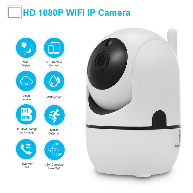 Baby Monitor 1080P WiFi Camera Wireless IP Camera Motion Detection  2 way Audio Night Vision TF Card Cloud Storage Home Security