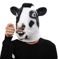 Custom Cow Head Masks Halloween Party Masks Animal Funny Show Masks