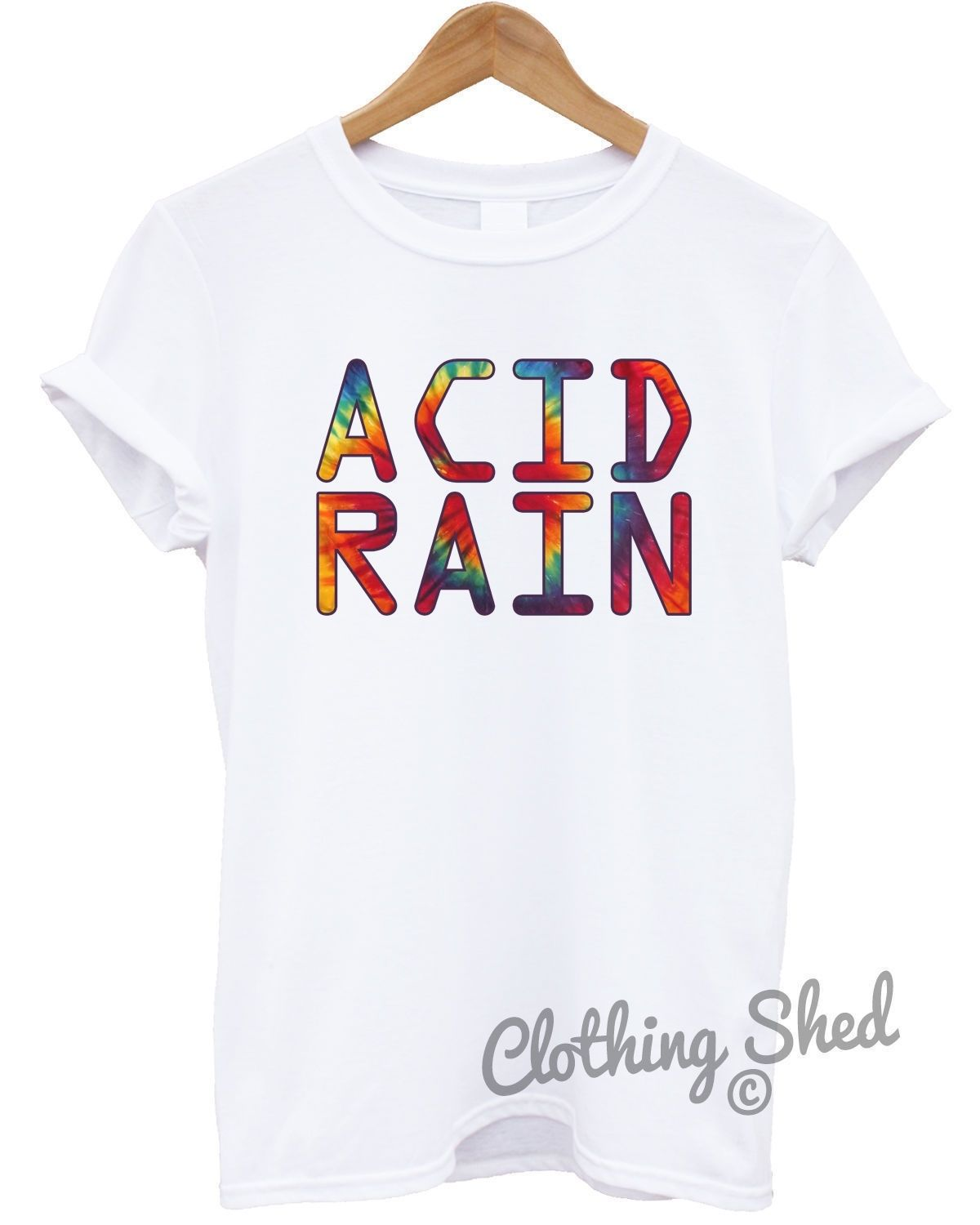 Acid Rain Hipster Mens Tshirt Womens Funny Party 80s Hippie Tie Dye Top FestivalCool Casual pride t shirt men Unisex New Fashion