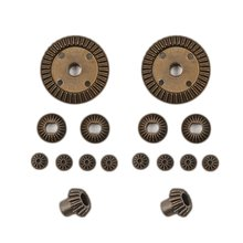 16PCS/SET Metal Motor Driving Gear Planet Differential Combo Kit for WLtoys 12428 12423 RC Car Truck Vehicle Part