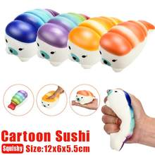 12cm Jumbo Cartoon Sushi Squishy Charms Milk Bag Toy Slow Rising for Children Adults Relieves Stress Anxiety Cabinet Decor(China)