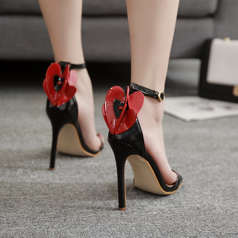 Sandals Fashion Novelty Flower Butterfly-Knot High Heels Shoes