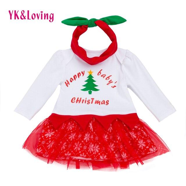 christmas baby romper dress girl long sleeve tutu dresses for newborn 0 24 month princess