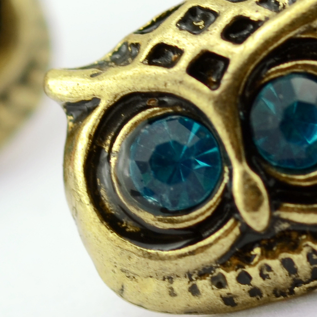 Antique Gold Owl Earrings