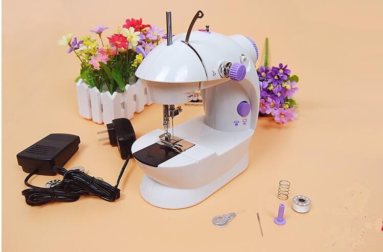 Petite machine à coudre électrique multifonctionnelle de ménage machine à coudre portative ourlant