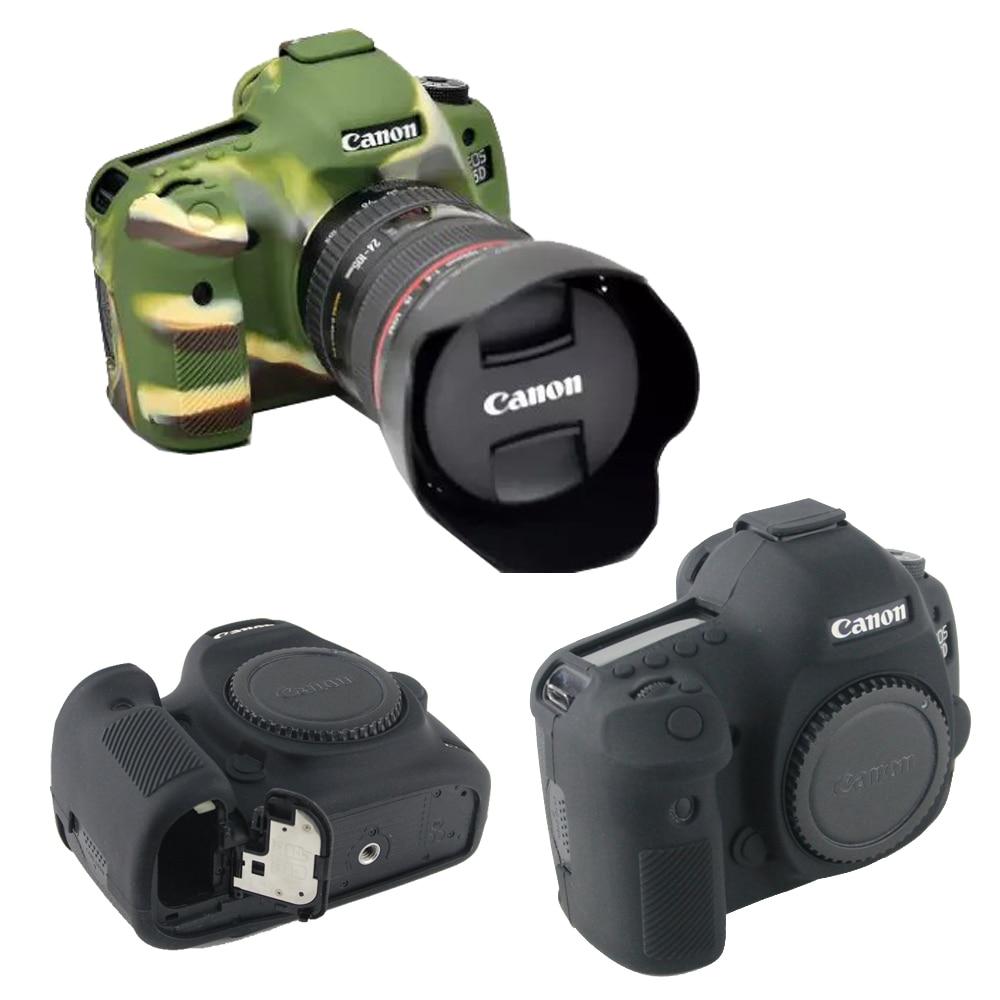 Jolie housse de protection pour appareil photo Canon 5D3/5DS/5DR coque en Silicone, étui en caoutchouc pour caméra 5D Mark III