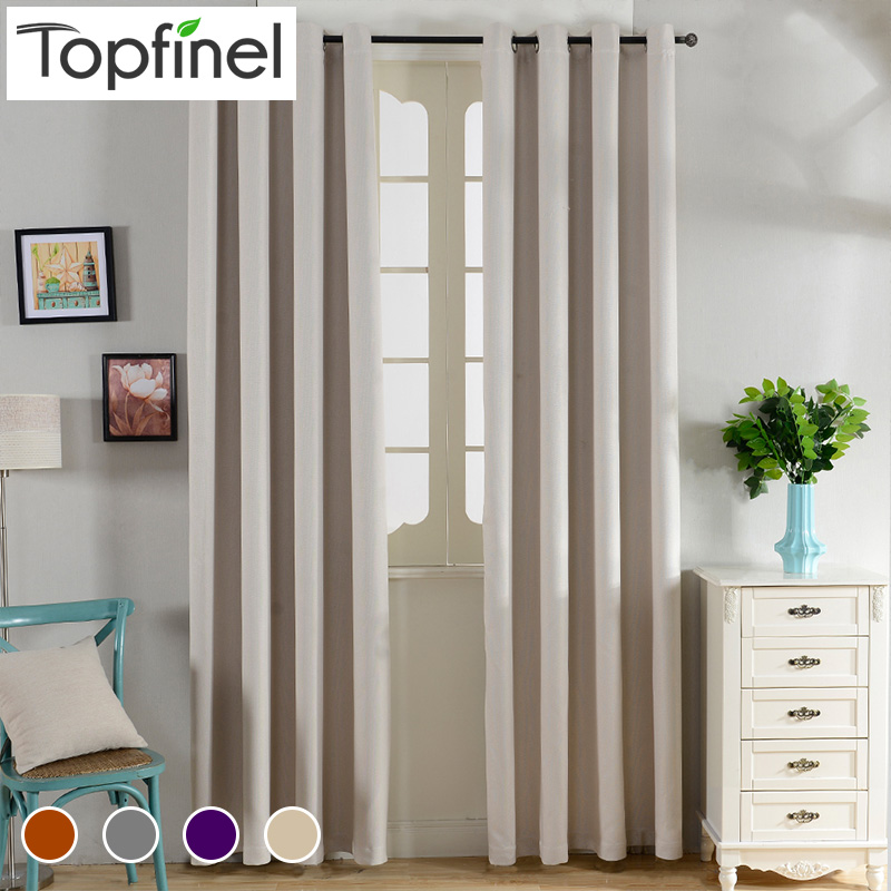top finel solid thermal insulated blackout curtains for living room bedroom window treatments room dark curtains
